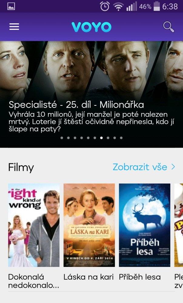 Voyo 3.0 - nová aplikace pro Android