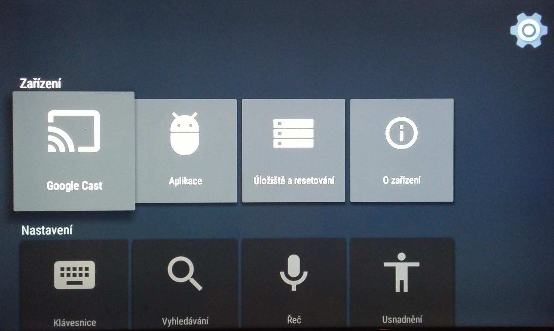 Android TV – nastavení