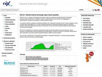 Tak vypadal web NIX.CZ do 6.1.2014.