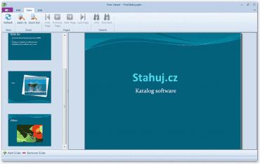 Uživatelské rozhraní s náhledem prezentace ve formátu PPTX.