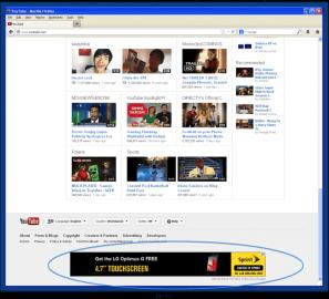 Falešný inzerát na YouTube (zdroj: Spider.io)