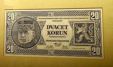Bankovka z roku 1926 s portrétem Milana Rastislava Štefánika.