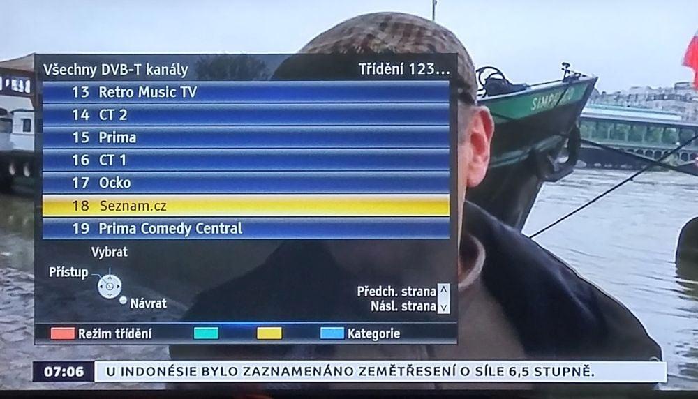 Seznam.cz TV v praxi (HbbTV funkční)