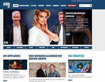 Webová stránka německé filmové společnosti UFA.