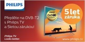 Přejděte na DVB-12 s Philips TV a 5letou zárukou