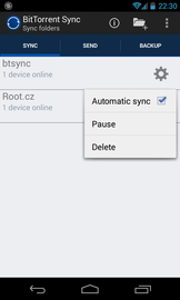 BitTorrent Sync pro Android