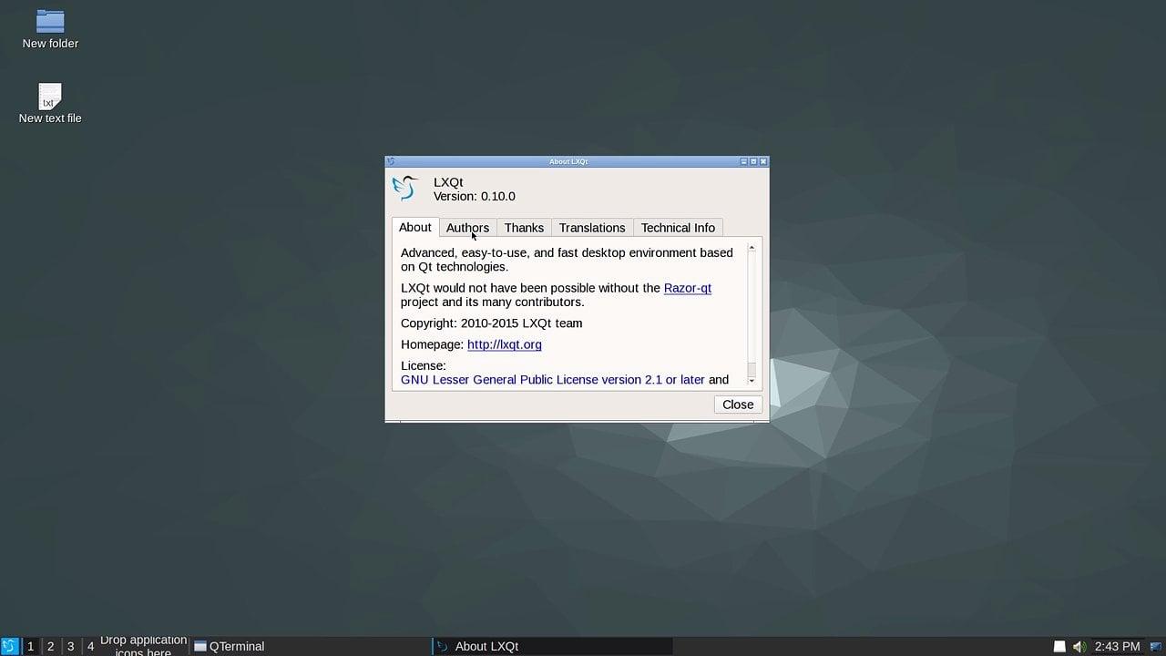 Lubuntu LXQt vývojová verze