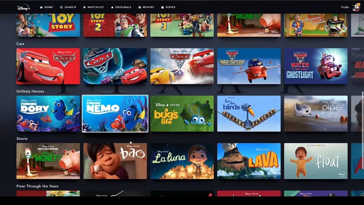 Produkce Pixar v Disney+
