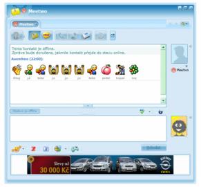 <p>Komunikační okno aplikace ICQ 6</p>