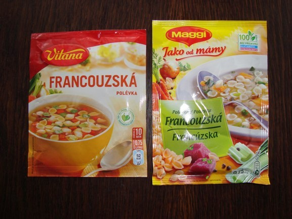 Instantní polévky jako na obrázku?