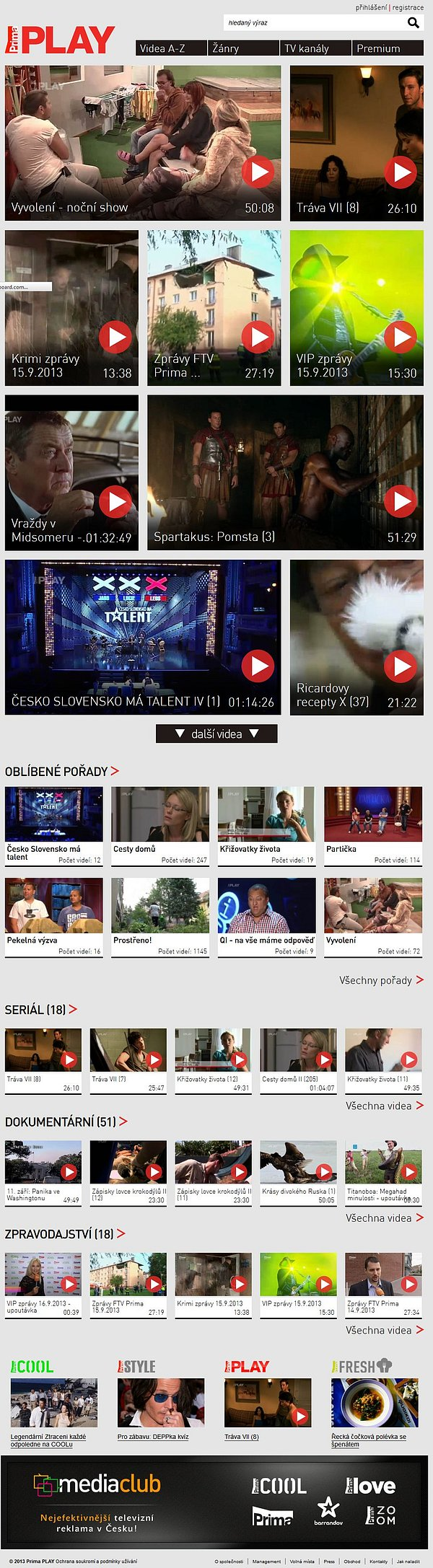 Nová podoba videoportálu Prima Play