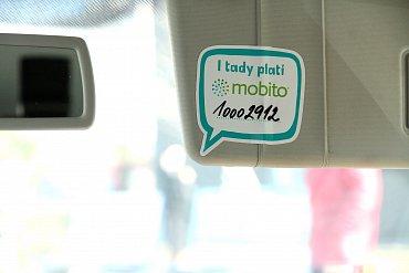 I za taxi se dá platit Mobitem.