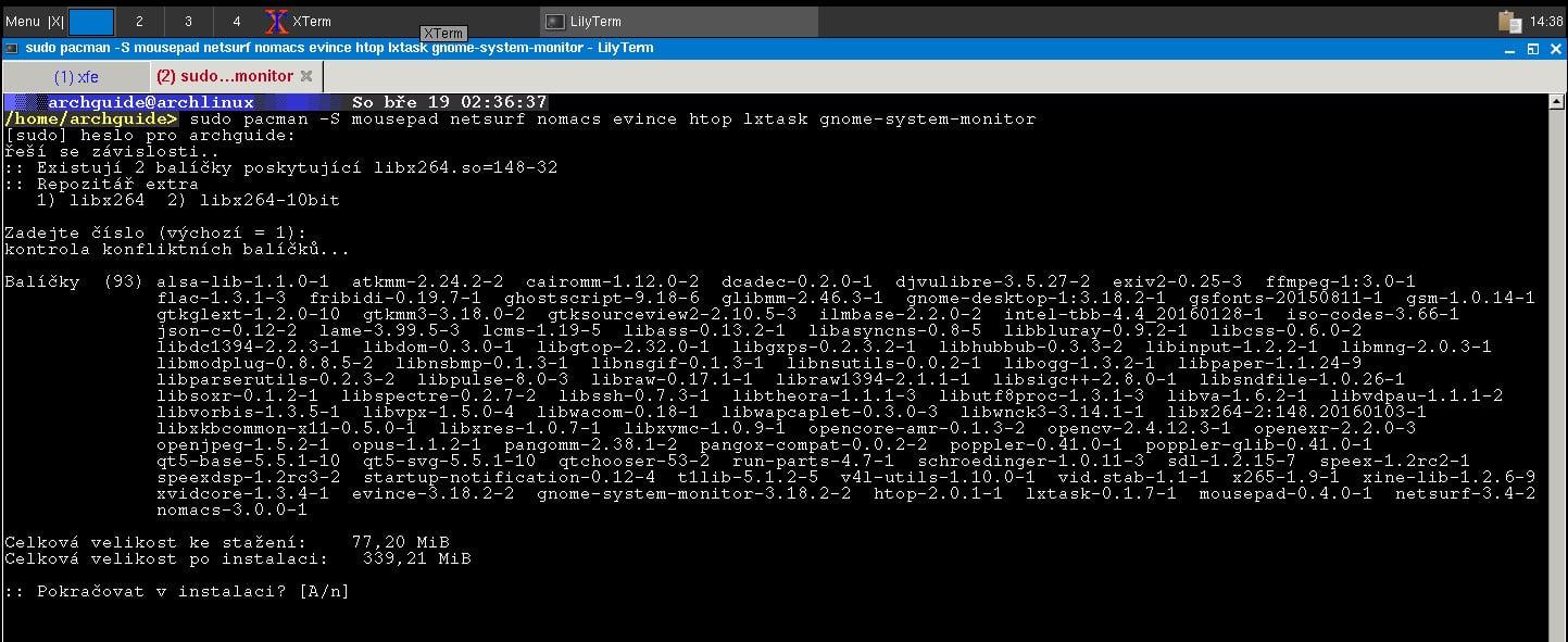 Arch: instalace balíčků z AUR
