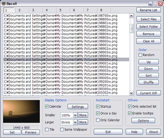 Bgcall dokáže změnit při každém startu počítače tapetu plochy a navrch přidá kalendář