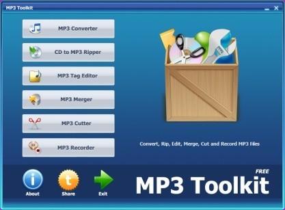 MP3 Toolkit ripuje CD a převádí hudbu