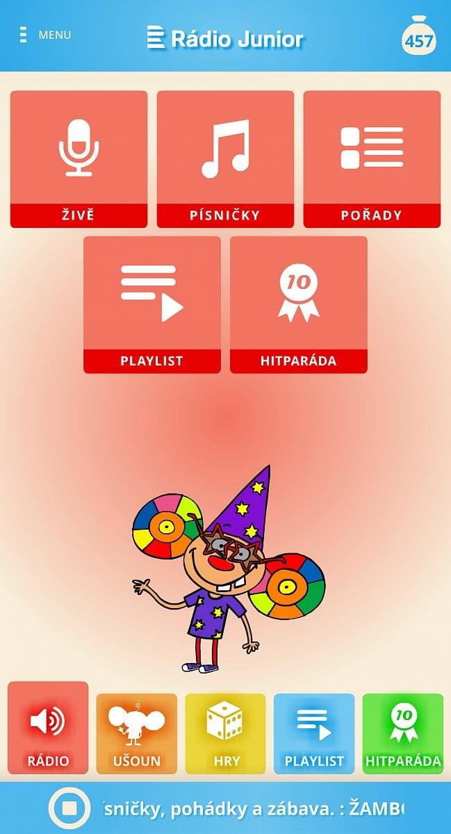 Aplikace Rádio Junior