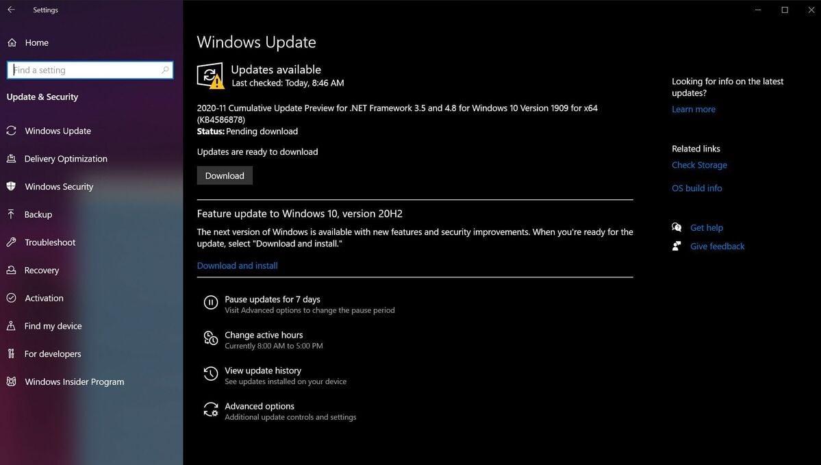 Kontrolu a instalaci nalezených aktualizací provádějte opakovaně tak dlouho, dokud vám není oznámeno, že byly všechny aktualizace nainstalovány.