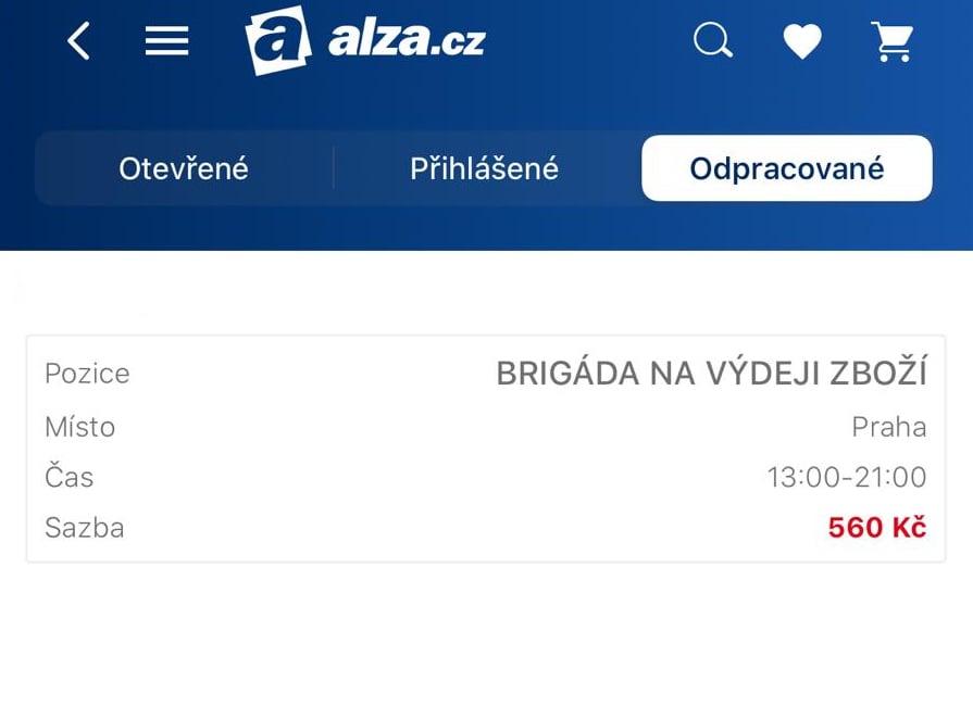 Mikrojob v Alza.cz