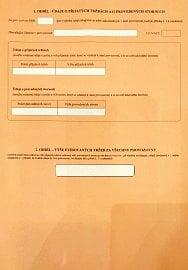 Zjednodušený, nový formulář Finanční správy pro papírové vykazování EET. (21. 2. 2020)