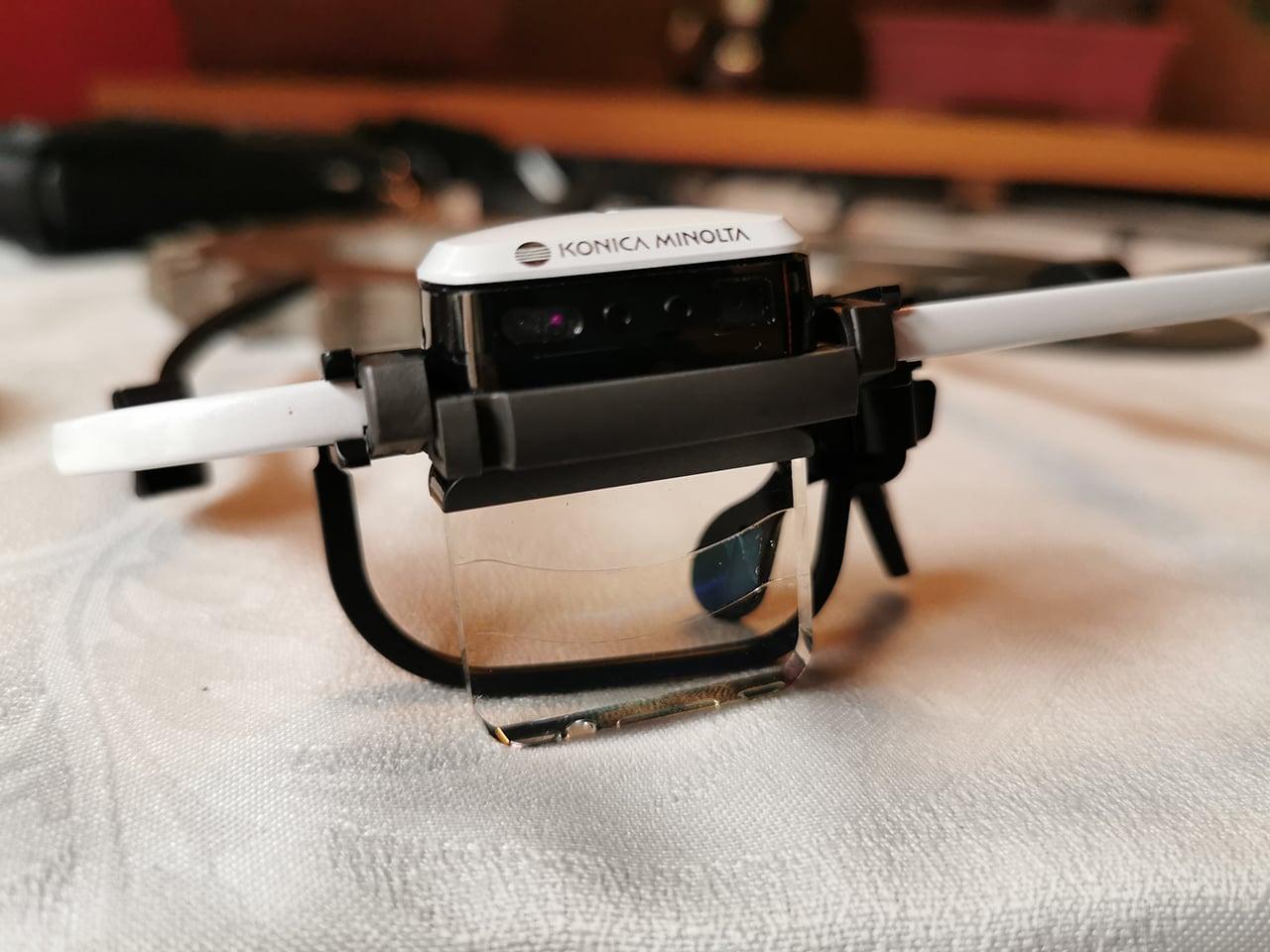AR brýle Konica Minolta AIRe Lens, které vznikly i v Brně