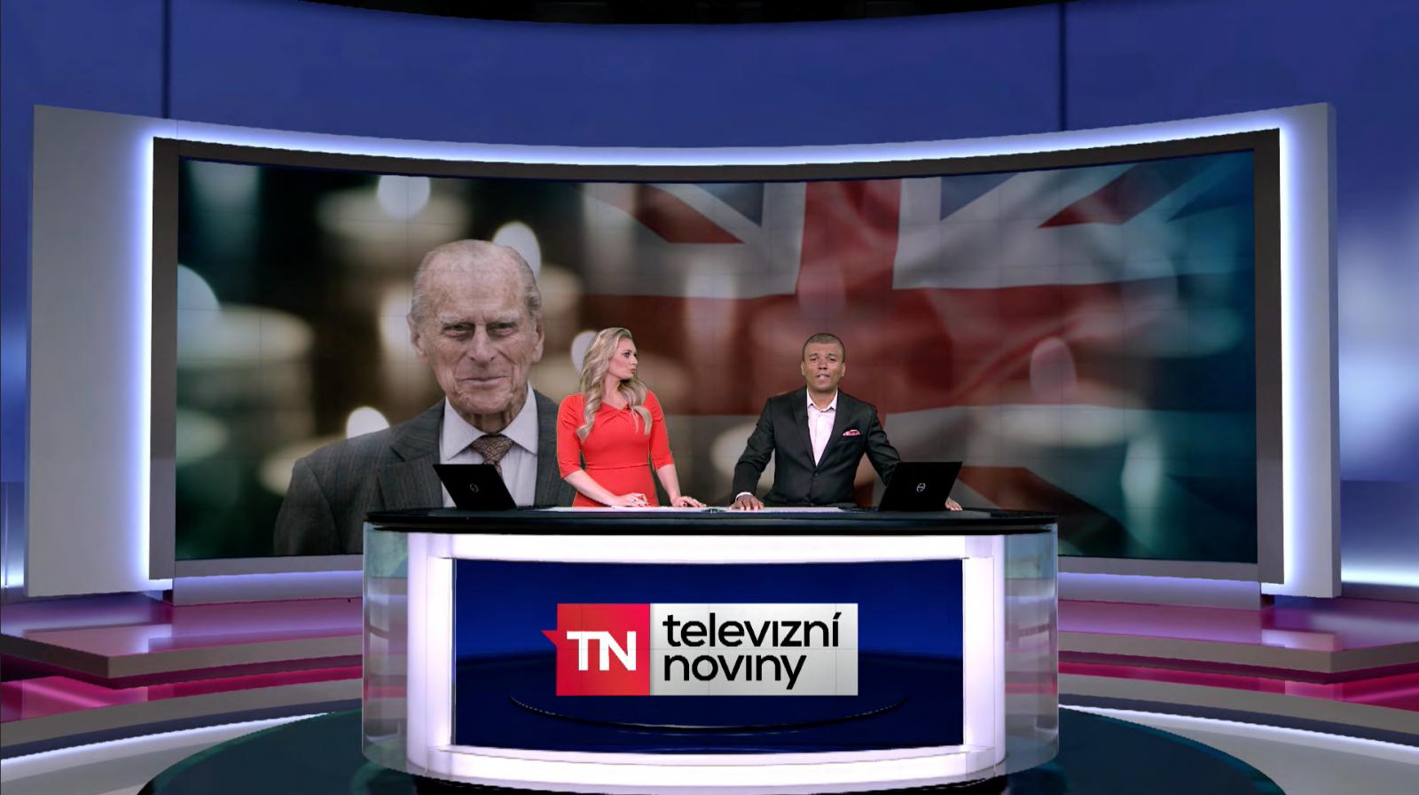 Srovnání Televizních novin ve skutečném a v náhradním studiu