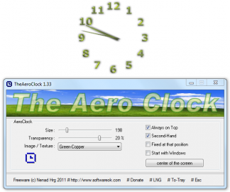 TheAeroClock - analogové hodiny pro vaši plochu