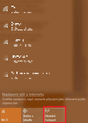 Svůj počítač s operačním systémem Windows 10 můžete přeměnit v mobilní hotspot