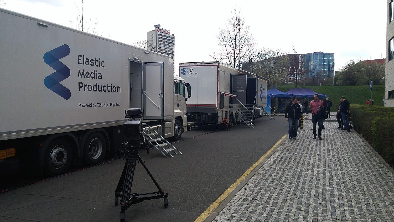 O2 přenosový vůz (Outside Broadcast van)