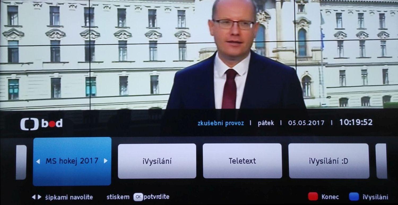 ČT HbbTV - MS hokej 2017