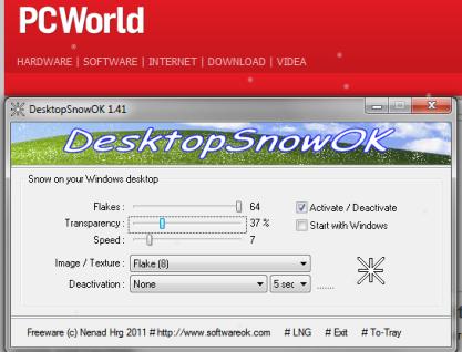 Pomocí DesktopSnowOK bude chumelit u ve vašem počítači