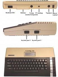 Konektorová výbava počítače.