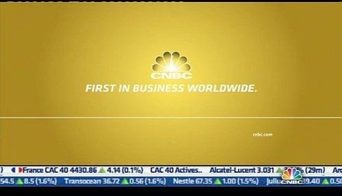 Ukázka širokoúhlého formátu zpravodajského kanálu CNBC Europe
