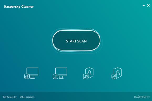 Kaspersky Cleaner, spuštění analýzy počítače