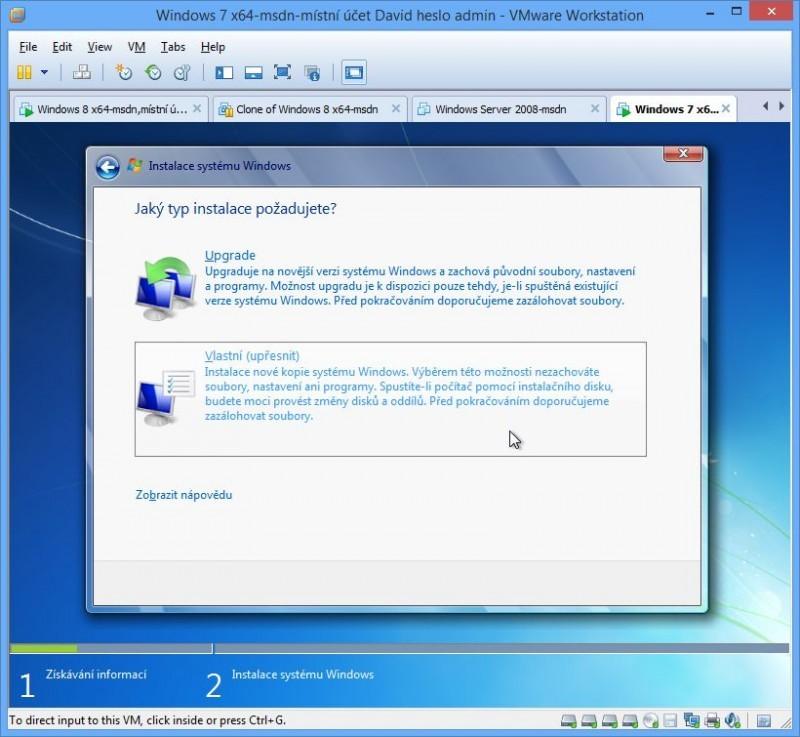Po důkladném promazání disku můžete na tento disk nainstalovat nová Windows 7.