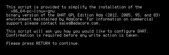 Instalace překladače Ada