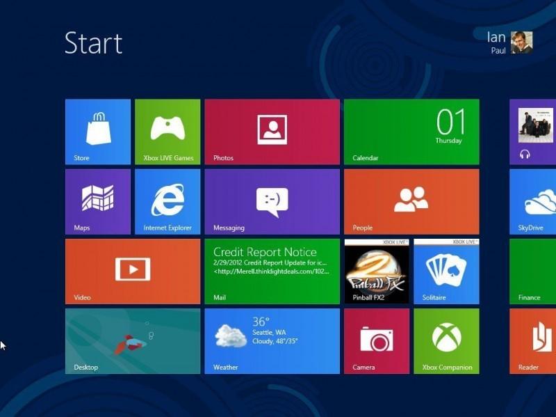 Rozhraní Metro ve Windows 8
