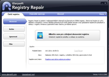 Registry Repair pročistí systémový registr