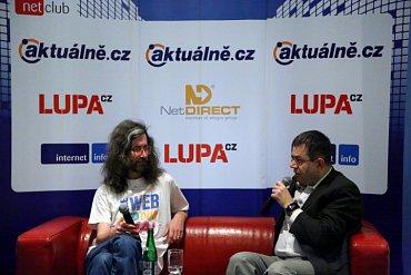 Petr Koubský (vpravo) zpovídá Marka Prokopa.