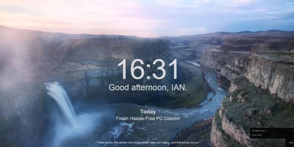 Momentum pro internetový prohlížeč Google Chrome