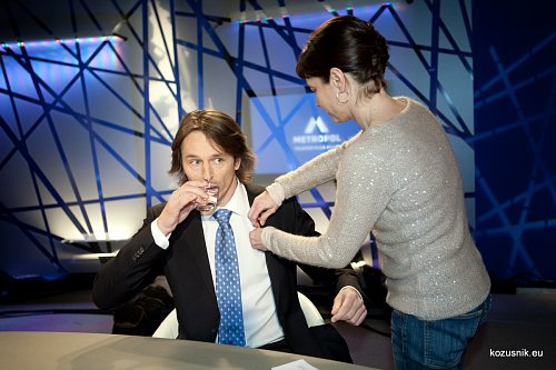 Edvard Kožušník ve svém novém diskusním pořadu na TV Metropol.