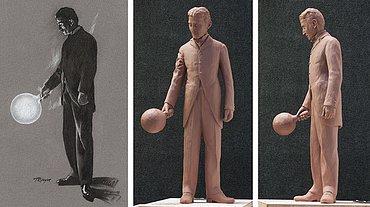 Návrh sochy Nikoly Tesly