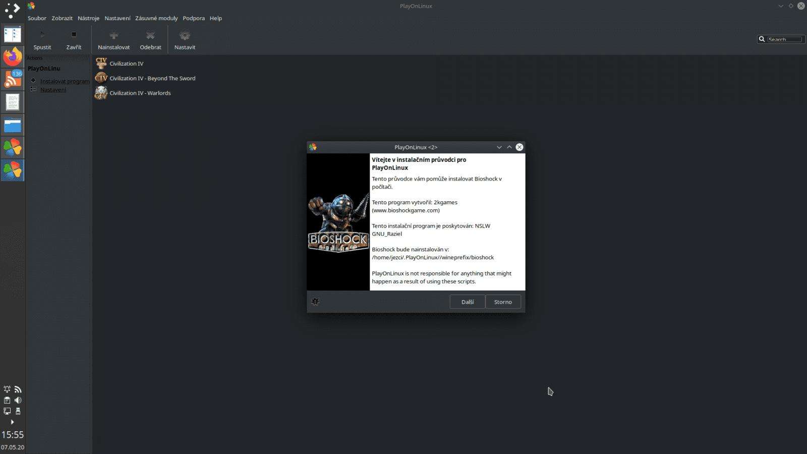 Staré hry na Linuxu (Wine, PlayonLinux)
