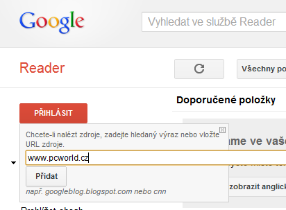 google reader pcw