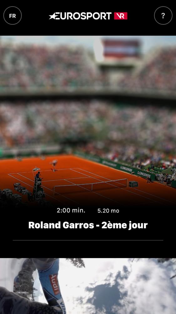 Eurosport VR pro French Open 2016