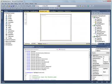 Prostředí nové verze Microsoft Visual Studio 2010.