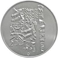 Pamětní stříbrná mince První výročí schválení Ústavy ČR (15.12.1993).