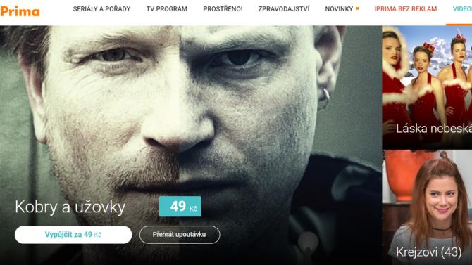 [aktualita] Televize Prima spustila na internetu a v HbbTV placenou videopůjčovnu