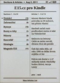 E15 v Kindlu