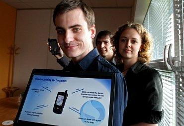 Zakladatelé GINA Software (zleva): Zbyněk Poulíček, Boris Procházka, Petra Bačíková Černá.