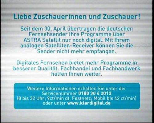 Většina programů, která byla šířena analogově ze satelitu Astra obsahuje tuto informaci.